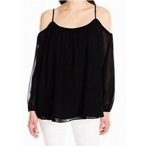 B2G1 NWT Calvin Klein Black Cold Shoulder Blouse